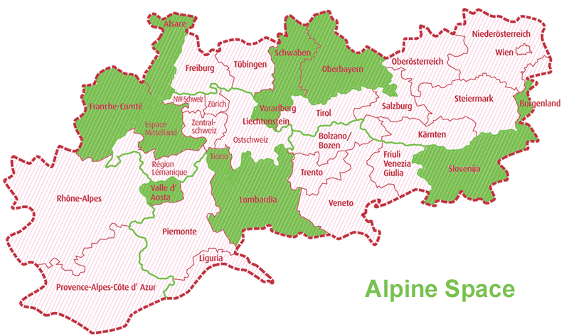 Map Alpine Space