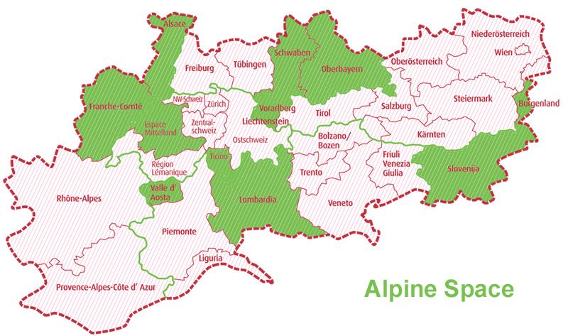 Map Alpine Space